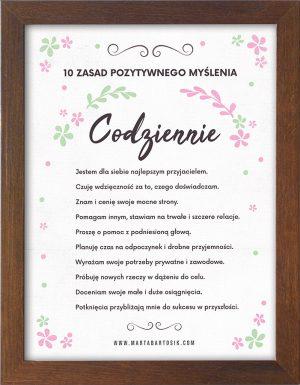 Plakat motywacyjny w brązowej ramce
